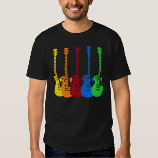 Five Colorful Electric Guitars Tshirt