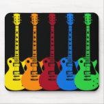 Five Colourful Electric Guitars Mouse Mat