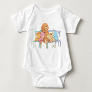 Five Cuddly and Colorful Bears On Chairs Baby Bodysuit
