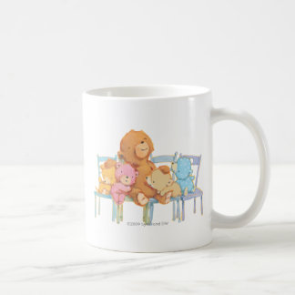Five Cuddly and Colorful Bears On Chairs Coffee Mug