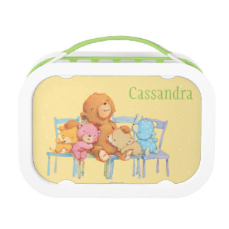 Five Cuddly and Colorful Bears On Chairs Lunch Box