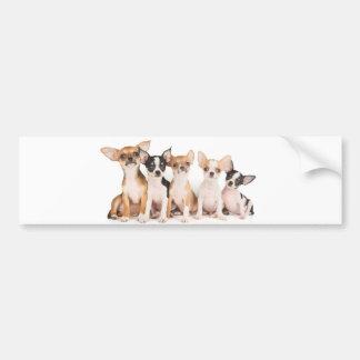Five cute puppies bumper sticker