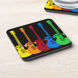 Five Electric Guitars Beverage Coaster