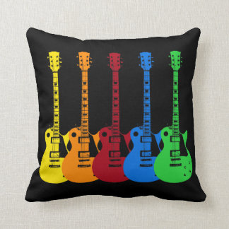 Five Electric Guitars Cushion
