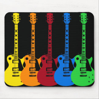 Five Electric Guitars Mouse Pad