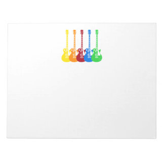 Five Electric Guitars Notepad