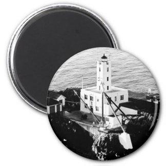 Five Finger Islands Lighthouse 6 Cm Round Magnet