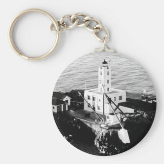 Five Finger Islands Lighthouse Basic Round Button Key Ring