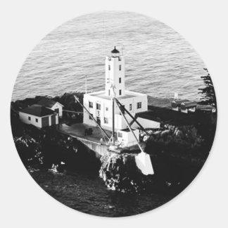 Five Finger Islands Lighthouse Round Sticker
