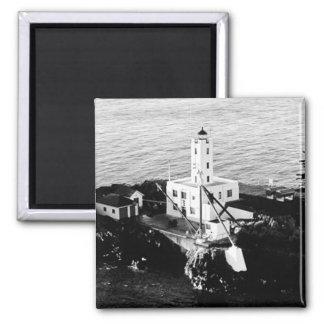 Five Finger Islands Lighthouse Square Magnet