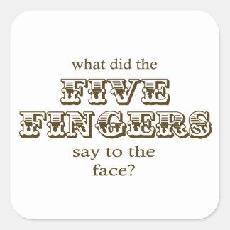 Five Fingers Square Sticker