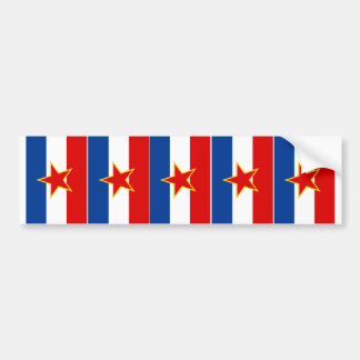 FIVE Flags of Yugoslavia Bumper Sticker
