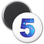 Five - For Birthdays, Celebrations or Events Fridge Magnet