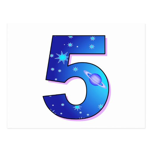 Five - For Birthdays, Celebrations or Events Postcard