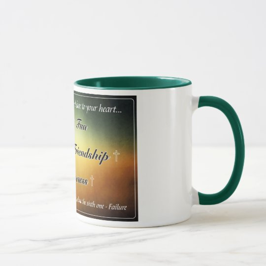 'Five F's' Green 11oz Coffee Mug
