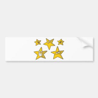 Five funny Stars Bumper Sticker