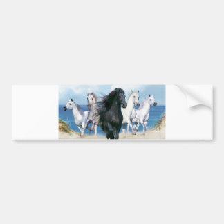 Five Galloping Horses Bumper Sticker