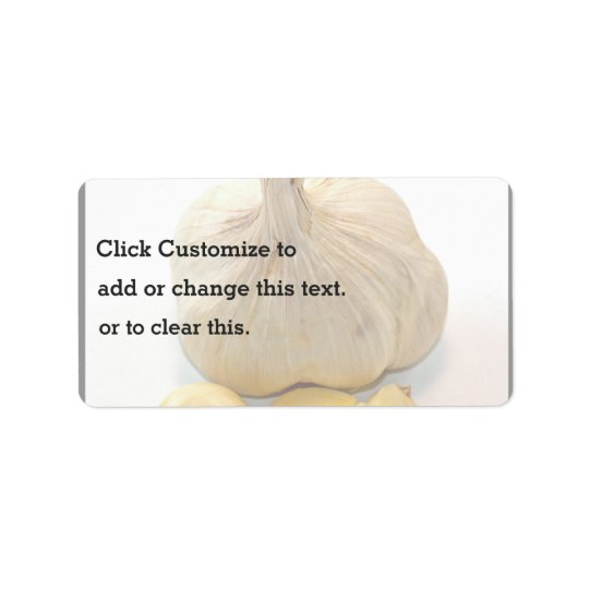 Five Garlic Slices And A Garlic Clove Label
