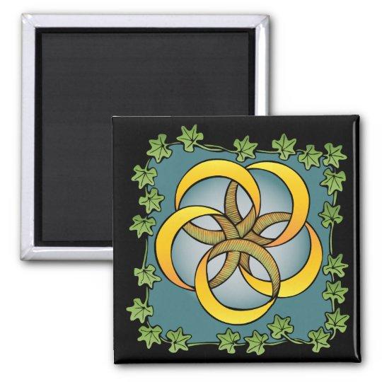 Five Golden Rings Square Magnet