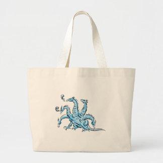 Five Headed Dragon Jumbo Tote Bag