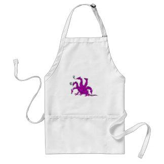 Five headed purple dragon.png adult apron