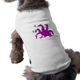 Five headed purple dragon png dog clothing