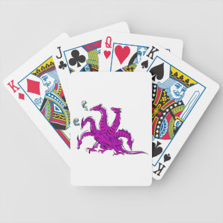 Five headed purple dragon png poker cards