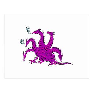Five headed purple dragon.png postcard
