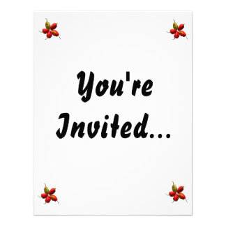 Five Hot Habanero Peppers Photograph Personalized Invitations