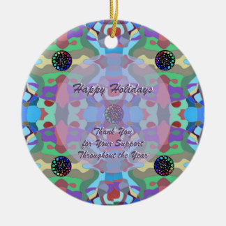 Five Jewels Abstract Design Round Ceramic Decoration