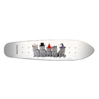 Five Kittencats With Hats (Longboard) Custom Skateboard