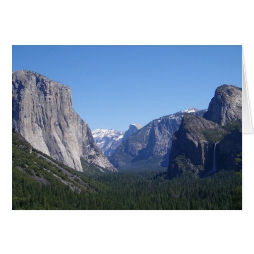 Five Landmarks Yosemite California Card