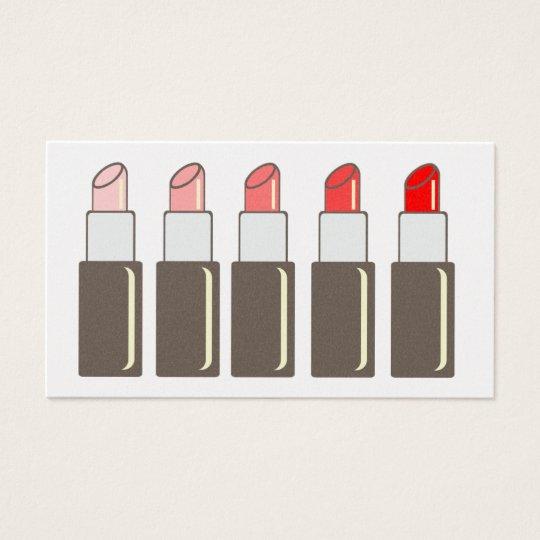 Five Lipsticks Makeup Artist Business Card