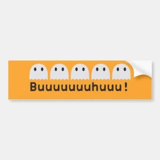 Five little ghosts Buuuuhuu Bumper Sticker