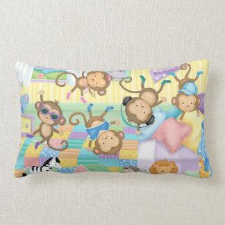 Five Little Monkeys Lumbar Pillow