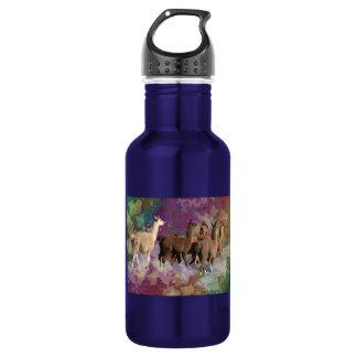 Five Llama Cloud Walk Fantasy White & Brown LLamas 532 Ml Water Bottle