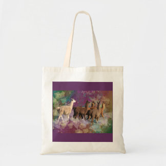 Five Llama Cloud Walk Fantasy White Brown LLamas Bag