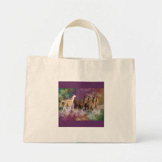 Five Llama Cloud Walk Fantasy White Brown LLamas Tote Bags