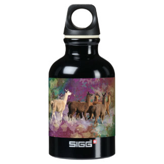 Five Llama Cloud Walk Fantasy White & Brown LLamas SIGG Traveller 0.3L Water Bottle