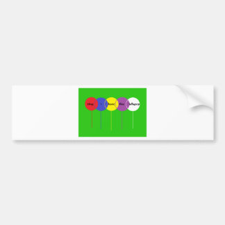 five lollypop bumper stickers