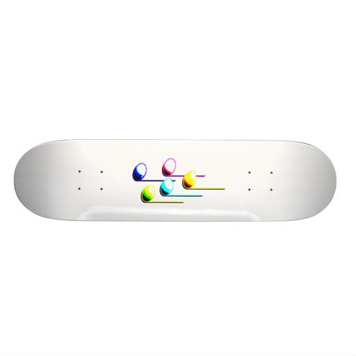 Five Music Notes in colours Musician Graphic Skateboards