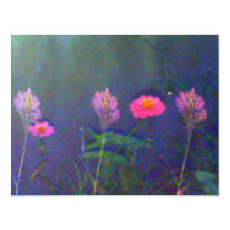 "Five Night Flowers 4.25"" X 5.5"" Invitation Card"