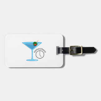 FIVE O CLOCK SOMEWHERE LUGGAGE TAG