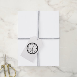 FIVE O'CLOCK CLOCK GIFT TAGS