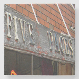 Five Paces, Buckhead Atlanta Marble Stone Coaster. Stone Beverage Coaster