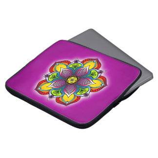 "Five Petal Mandala 15"" Laptop Case Laptop Sleeves"
