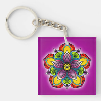 Five Petal Mandala keychain