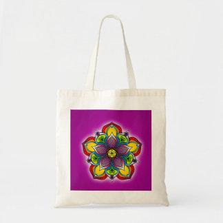 Five Petal Mandala Tote Budget Tote Bag