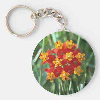 Five-petaled Yellow Cupped Flowers flowers Key Chain