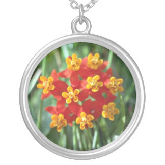 Five-petaled Yellow Cupped Flowers flowers Personalized Necklace